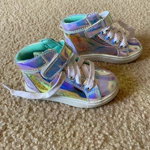 Iridescent Clear Sneakers